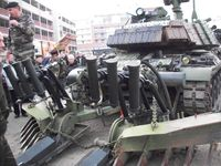 Panzer in einer europäischen Stadt (Symbolbild)