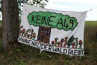 Transparent bei Dannenrod zur Erhaltung des Waldes, August 2020