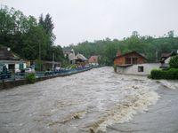 Hochwasser in der tschechischen Stadt Nový Knín, 2. Juni 2013
