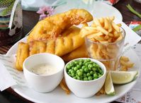 """Fish and chips at Tasha's"""