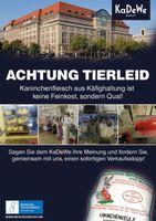 Plakat zur KaDeWe-Kampagne Bild: Deutsches Tierschutzbüro e.V./Kai Horstmann