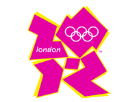 Logo der Olympischen Sommerspiele 2012 in London.