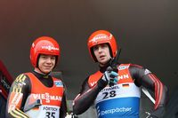 Förtsch (l.) und Rothamel (v.l.) Bild: Thüringer Schlitten- und Bobsportverband (TSBV)