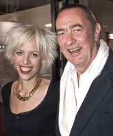Katja Eichinger mit ihrem bereits verstorbenen Ehemann Bernd Eichinger auf der Berlinale 2008