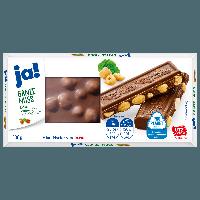 Ja! Ganze Nuss Edelvollmilchschokolade 100g