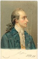 Johann Wolfgang von Goethe, Postkarte nach einem Gemälde von Georg Oswald May, 1779