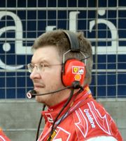 Ross Brawn 2006 als Technischer Direktor der Scuderia Ferrari