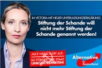 Alice Weidel: Wahlplakat der AfD