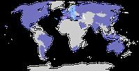 Gruppe der zwanzig wichtigsten Industrie- und Schwellenländer (blau koloriert)