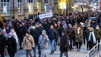 Protest im Erzgebirge: Am 20. März 2021 zogen tausende Bürger durch die Innenstadt von Aue Bild: AN / Eigenes Werk