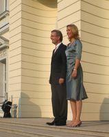 Christian und Bettina Wulff beim Sommerfest des Bundespräsidenten am 2. Juli 2010 vor dem Schloss Bellevue