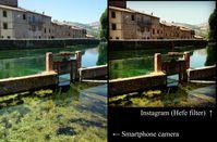 Instagram-Effekt: Foto rechts mit einem Filter