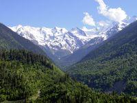 Georgien: Waldgebiete im Kaukasus, Region Swanetien