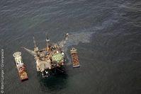 Ölförderanlage Ninian Southern. Bild: Martin Langer / Greenpeace