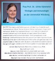 Prof. Dr. Ulrike Kämmerer, Virologin und Immunologin an der Uni Würzburg weist auf Beschränktheit der PCR-Tests hin (Symbolbild)