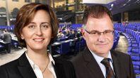 Beatrix von Storch, stellvertretende Vorsitzende der AfD-Bundestagsfraktion und Jürgen Braun, Parlamentarischer Geschäftsführer der AfD-Bundestagsfraktion (2019)