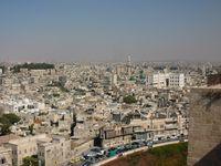 Blick auf Aleppo von der Zitadelle aus