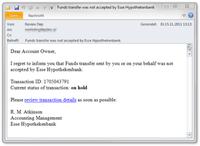 Beispiel für eine Betrugs-Mail