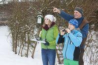 Vogelbeobachtung im Winter Bild: Frank Hecker;