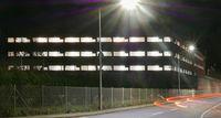 Justizvollzugsanstalt Trier in der Nacht (Symbolbild)