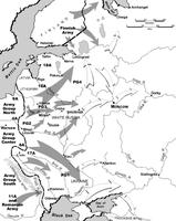 Geplante Vorstoßrichtungen im Unternehmen Barbarossa (1941)