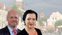 Andreas Kalbitz, Mitglied im Bundesvorstand und AfD-Fraktionsvorsitzender Brandenburg, Birgit Bessin, MdL, AfD-Fraktion im Brandenburgischen Landtag