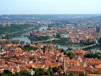 Die Hauptstadt Prag an der Moldau in Tschechien