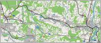 Karte der Mangfalltalbahn mit Unfallstelle