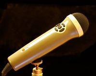 Mikrofon: Wenig Vorlage erlaubt Stimmenklau. Bild: Günther Gumhold, pixelio.de