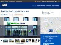 Holiday Inn Express Augsburg: Verwehrt demokratisch gewählten Abgeordneten die Übernachtung.