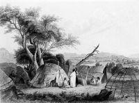 Wigwam der Winnebago, eines Außenseiterstamms der Sioux, 1852