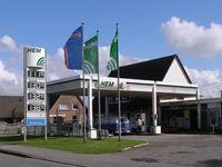 Ehemalige Tankstelle der Kette HEM auf der Halbinsel Nordstrand
