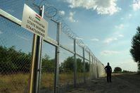 Grenzzaun zu Serbien in Ungarn