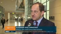 """Alexander Graf Lambsdorff auf Nachrichtensender WELT zum Brexit: Die lange Verlängerung ist eine ganz andere Nummer Bild: """"obs/WELT/WeltN24 GmbH"""""""
