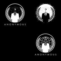 Anonymous Logo in verschiedenen Varianten