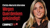 """Bild: SS Video: """"Wegen Querdenken gekündigt!: Christa-Maria im Interview"""" (https://youtu.be/HDpQIG3FwOU) / Eigenes Werk"""
