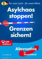 AFD Wahlkampfplakat (Innere Sicherheit)