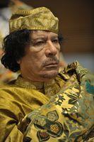 Muammar al-Gaddafi beim Gipfeltreffen der Afrikanischen Union als deren Präsident, 2009