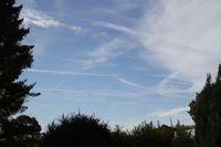 Chemtrails über Alsfeld am 18.10.2012
