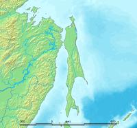 Topographische Karte von Sachalin