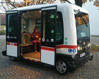 Autonomer Kleinbus in Bad Birnbach Oktober 2017