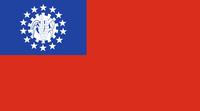 (alte) Flagge von Myanmar