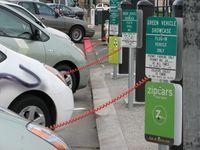 Elektro-Ladestation des weltweit größten Carsharing-Anbieters Zipcar in San Francisco