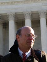 Michael Ratner in front of the US Supreme Court