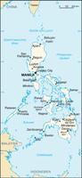 Karte der Philippinen