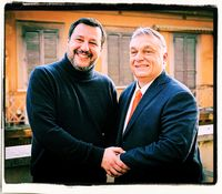 Lega-Chef Matteo Salvini und Ministerpräsident Viktor Orbán (2020)