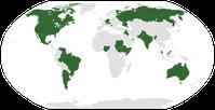 Karte der Staaten mit föderaler Verfassung