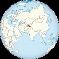 Tadschikistan auf der Erde