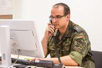 Soldat im Gesundheitsamt Aachen