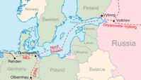 Verlauf der Nord-Stream-Pipeline und deren Anschluss